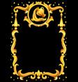 aquarius zodiac sign with golden frame horoscope vector image vector image