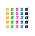 baby blocks alphabet collection vector image