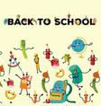 back to school flat poster education colorful vector image vector image