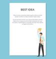 best idea congratulation poster vector image vector image