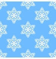 Big snowflakes seamless pattern vector image