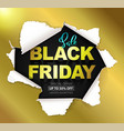 black friday sale composition vector image