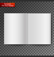 blank open magazine vector image vector image