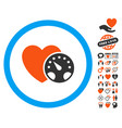 blood pressure meter icon with love bonus vector image vector image