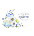 blue flower composition 2 vector image vector image