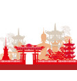 buddha and asian landscape