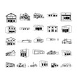 building cartoon clipart collection vector image