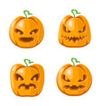 cartoon jack o lantern halloween pumpkin vector image vector image
