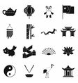 China black simple icons vector image vector image