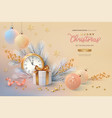 christmas and new year background vector image vector image