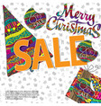 christmas sale background with box and christmas vector image vector image