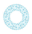 circular pattern of snowflakes vector image vector image