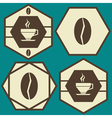 coffee logos set vector image vector image