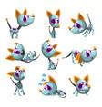 cute robotic dog set funny robot animal in vector image vector image