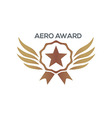 design aero awards star wings icon