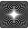 Design monochrome warped grid pattern vector image