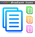 document symbol icon sign vector image