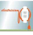 Electric poster vector image vector image