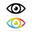 eye icons vector image vector image