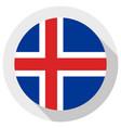 flag iceland round shape icon on white vector image