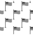 flag of usa on flagpole icon seamless pattern vector image vector image