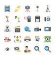 flat icons of photography vector image