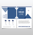 flyer template design in blue color vector image vector image