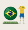 football brazil sport wear vector image