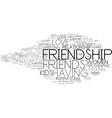 friendship word cloud concept vector image