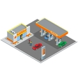 Gas station petrol station Refilling shopping vector image vector image
