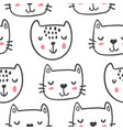 hand drawn funny cats in sketch style vector image vector image