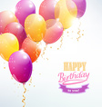 happy birthday with balloon card vector image