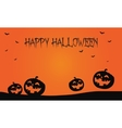 Happy Halloween pumpkins and bat backgrounds vector image