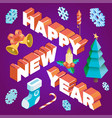 happy new year design template vector image
