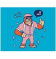 hipster big foot cartoon t shirt vector image vector image