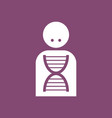 icon silhouette with dna vector image vector image