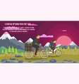 interesting tourist cycling trip with children vector image vector image