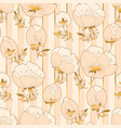 ivory and beige luxury floral seamless pattern vector image vector image