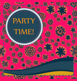 kid style print party time vector image