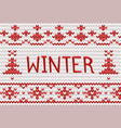 knitted winter background with place for text for vector image