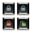 Lock unlock elegant black buttons vector image vector image