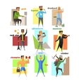 Men Lifestyle in Flat Style vector image