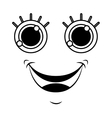 monster face emoticon icon vector image