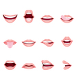 Mouth Icons Set vector image vector image