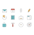 Office and Business outline icons vector image vector image