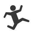 pictogram man silhouette running concept vector image