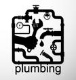 plumbing repair design vector image