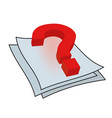 question mark on the paper vector image