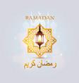 ramadan kareem cover template design element vector image