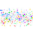 red blue green yellow glowing holiday confetti vector image vector image
